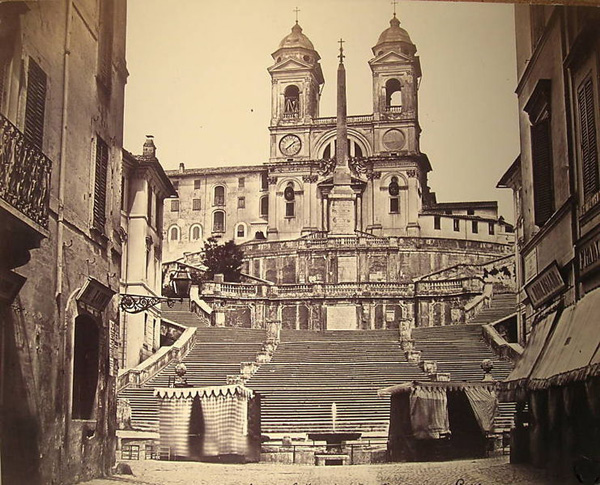 Spanish Steps, Rome old photo