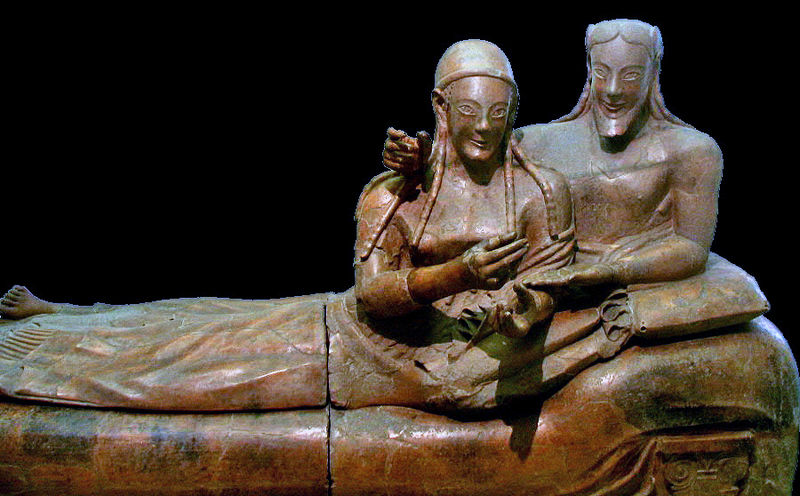 Etruscan sarcophagus of the spouses, Rome