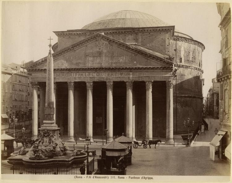 Pantheon, Rome old photo