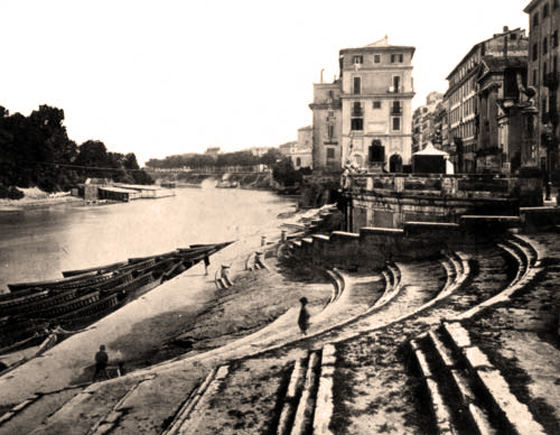 porto di ripetta rome old photo