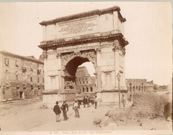 Arch of Titus, Rome old photo