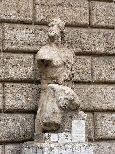 Pasquino talking statue