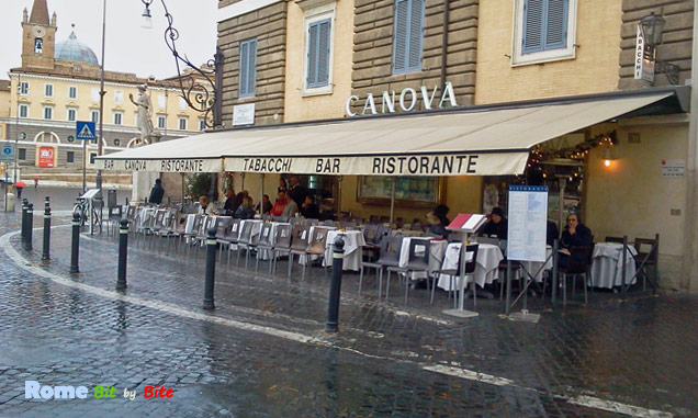 Bar Canova on a rainy day.