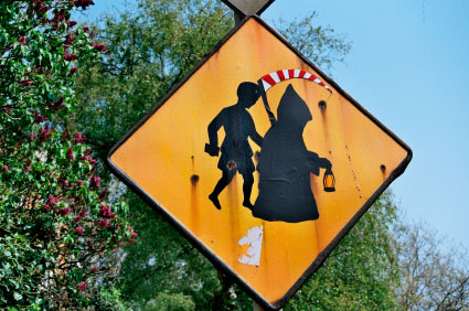 Halloween school sign