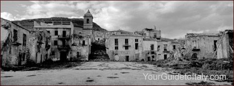 Ghost town in Sicily, Poggioreale