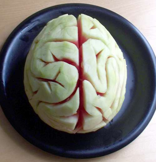 Halloween watermelon brain
