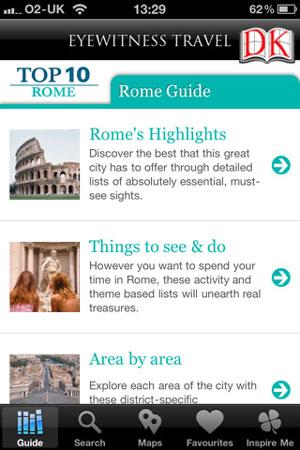 DK top 10 Rome iPhone app