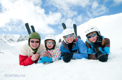 family wintersport in Italy