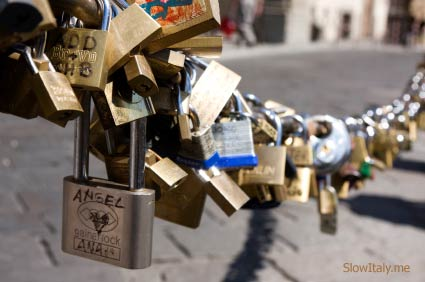 love padlocks in Florence