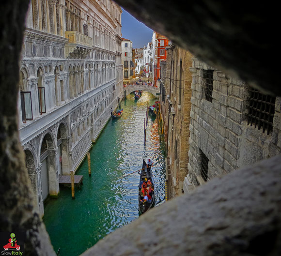View from the other side of the Bridge of Sighs. Photo © legacy1995