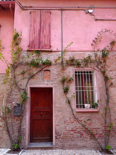 Dozza pink house