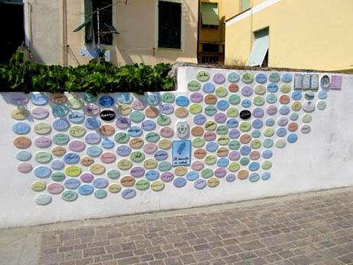 Muretto dei Campioni Ciclisti of Laigueglia
