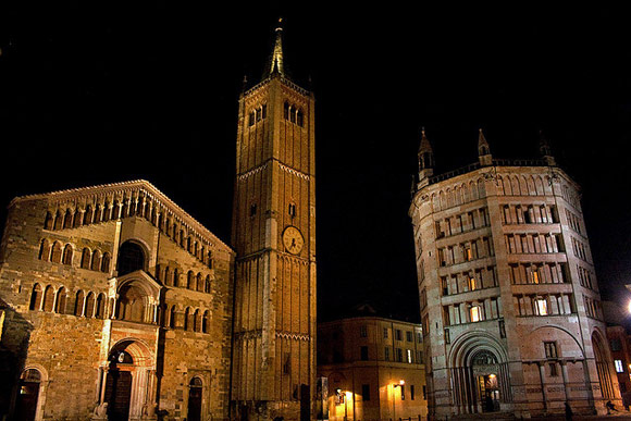 Duomo of Parma, constructed between 1074 and 1178, consecrated in 1106.