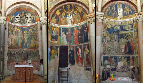 Three of the sixteen sides of the Baptistery: side 1, 4 and 6.