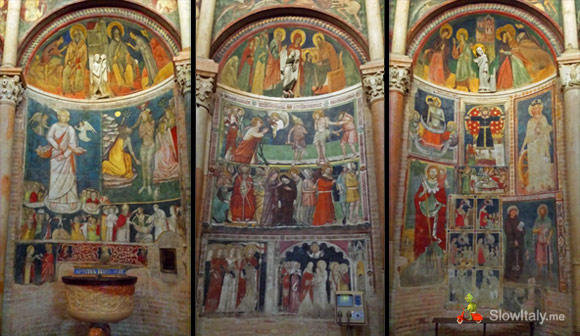 """Three of the sixteen sides of the Baptistery: side 7, 10 and 11."