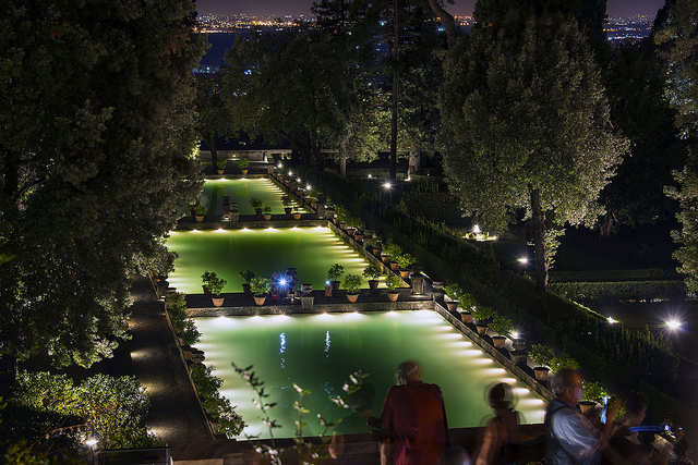 Villa d'Este by night