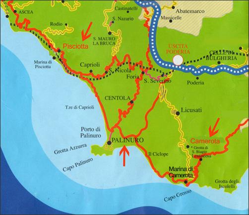 Cilento Region Italy Map.Palinuro Pisciotta And The Coast Of Myth Cilento Slow Italy
