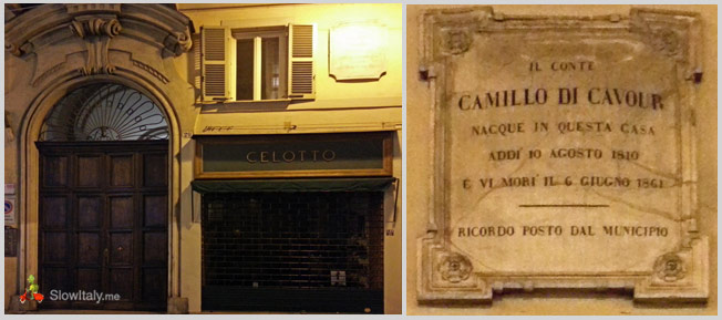 Cavour's birth house in Via Lagrange 29, Turin.