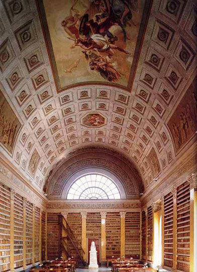 Biblioteca Palatina - Maria Luigia reading room.