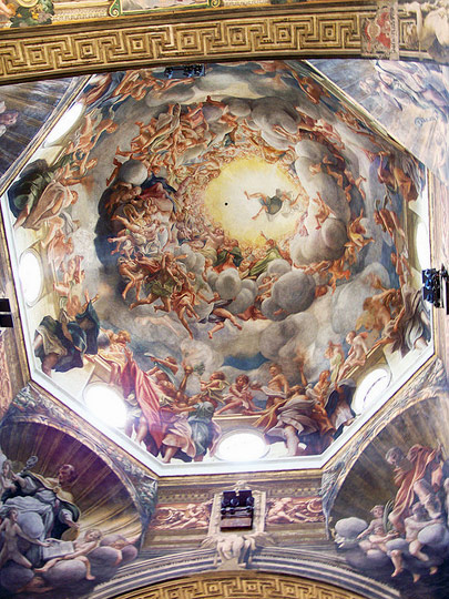 Dome of the Parma cathedral by Correggio