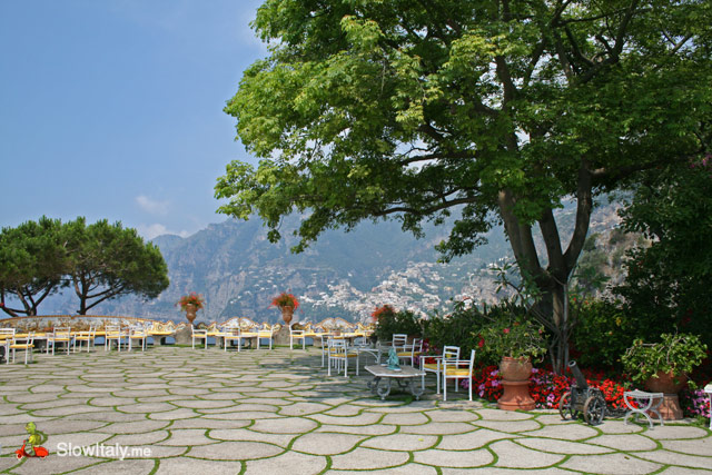 View from the terrace of Hotel San Pietro, Positano.