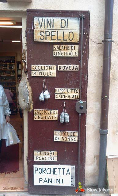 Norcineria, Spello (Umbria)