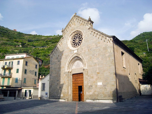 Church San Lorenzo, Manarola.