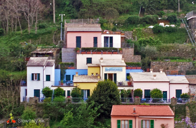 The collection of beautiful little houses that makes up the Cinque Terre Residence.