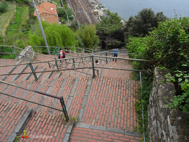 Corniglia stairs. Photo © Slow Italy.
