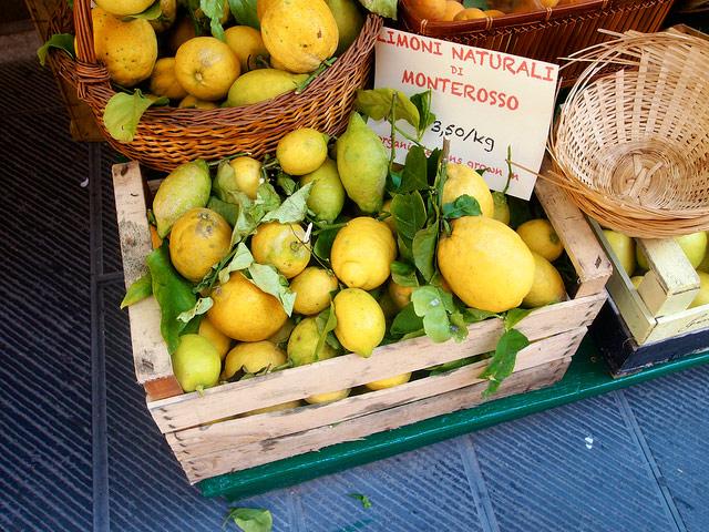 Lemons from Monterosso.