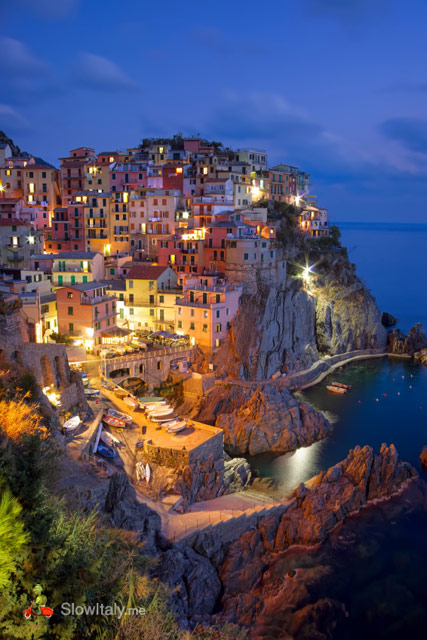 Manarola by night.