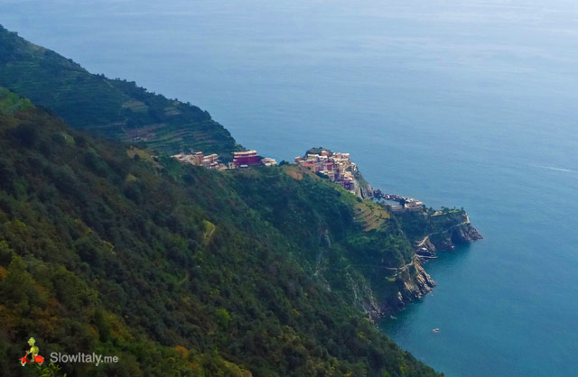 Manarola as seen from the hiking trail. Photo © Slow Italy.
