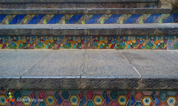 Detail of the Caltagirone stairs (higher part)