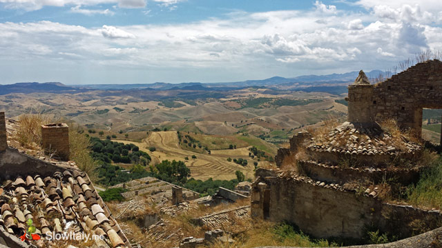 View from Craco over the Calanchi Lucani (Lucanian badlands)