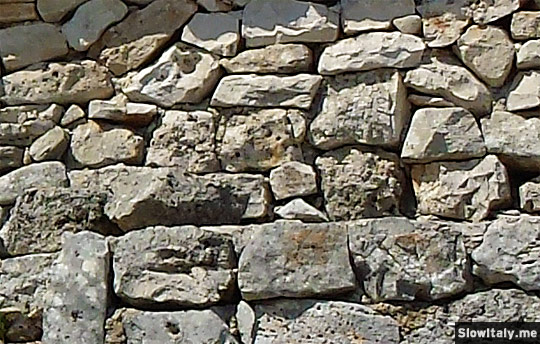 Detail of a trullo wall.