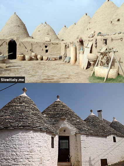 Harran (top) and Apulian (bottom) trulli. Photos © Valery Shanin/Fotolia.com (top) and Tarantino Vincenzo (bottom).