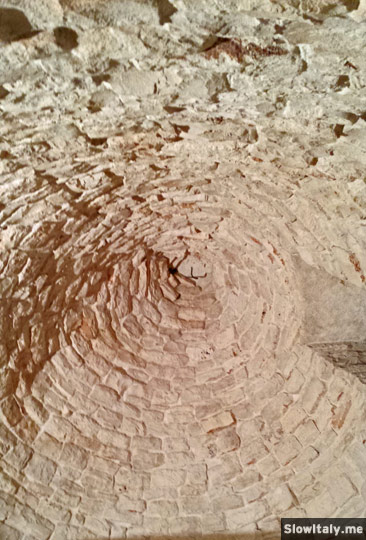 Trullo dome inside. Photo © Slow Italy.