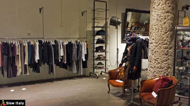 Blue Deep boutique in the Brera district. One of my favorites! Photo © Slow Italy.