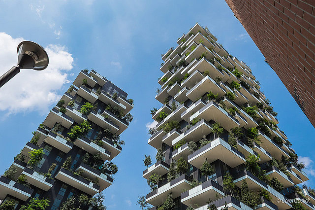 Bosco Verticale, the iconic towers in the Isola district. Photo by Lorenzoclick.