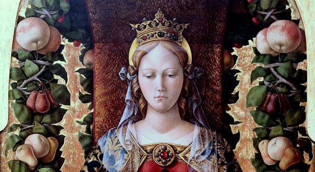 Madonna della Candelleta by Carlo Crivelli (1430-1494), Pinacoteca di Brera, Milano.