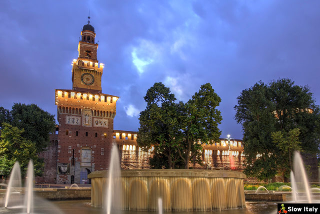 Sforza Castle, Milan. Stock photo © repistu.