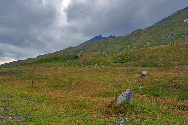 Cromlech, Little Saint Bernard pass. Photo by Genevieve Romier.