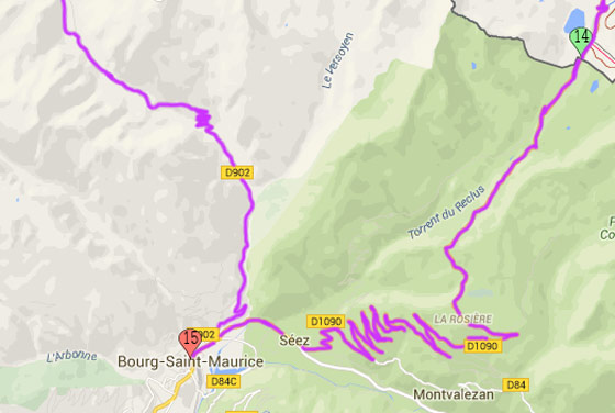 14. Little Saint Bernard pass 15. Bourg-Saint-Maurice