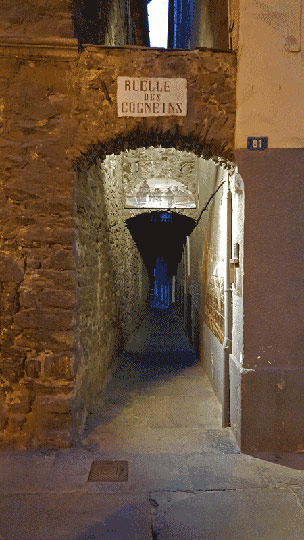 Typical little street in the historic center of Aosta. Photo © Slow Italy.