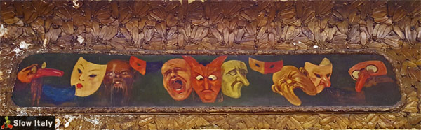 Masks banner with coffee leaves and coffee cherries in the background.