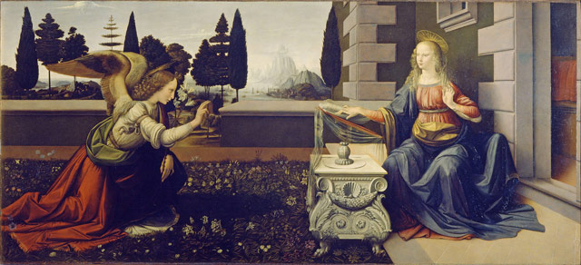 Annunciation (1475-1480) by Leonardo da Vinci