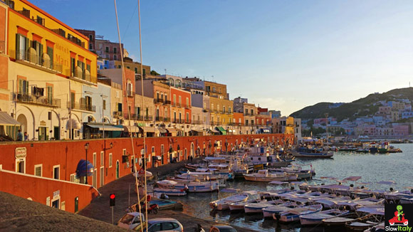 The little port of Ponza. Photo © Slow Italy