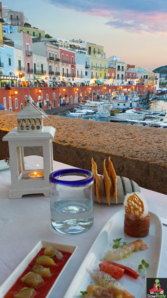 Restaurant Acqua Pazza, Ponza. Photo © Slow Italy.
